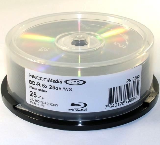 Image of IT Media *Silver top* BluRay BD-R 6x (1 layer) 25cake TDKBLD-RBD-000 HTL (IT12873)