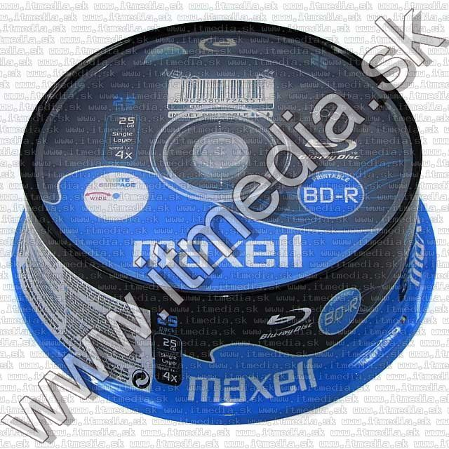 Image of Maxell BluRay BD-R 4x (1 layer) 25cake 25GB *fullprint* (IT5551)