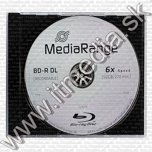 Image of MediaRange BD-R 6x (50GB) BluRay NormalJC (IT8820)