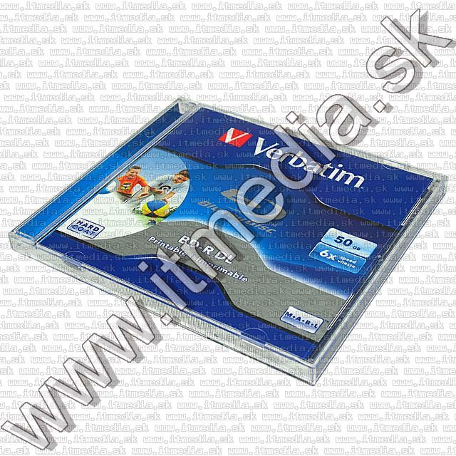 Image of Verbatim BluRay BD-R 6x (50GB) NormalJC Fullprint (43736) Taiwan (IT7390)