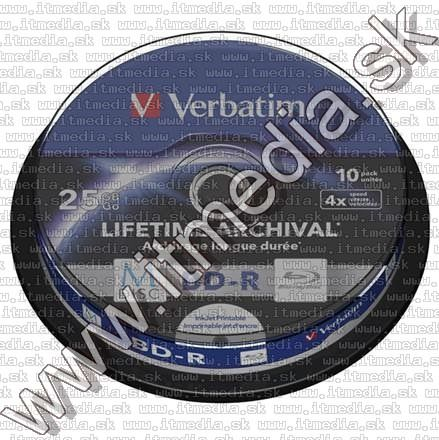 Image of Verbatim M-DISC BD-R 4x (25GB) BluRay 10cake *43825* Printable (IT13058)
