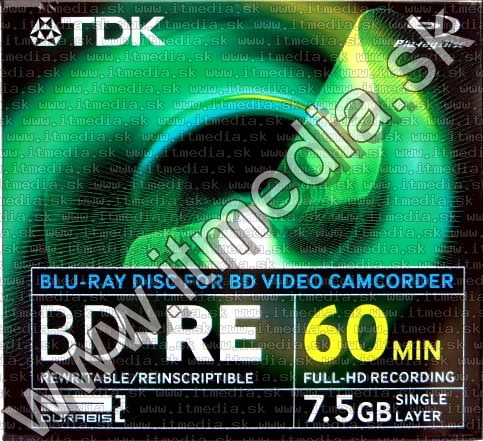 Image of TDK *mini* BluRay BD-RE 2x (1 layer) Maxijc 7.5GB (IT2660)