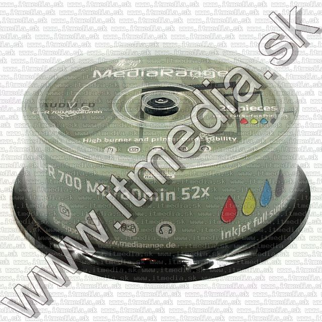 Image of Mediarange CD-R 80min -AUDIO- *Fullprint* 25cake (IT7460)