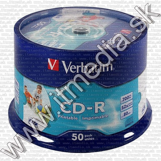 Image of Verbatim CD-R ***FULLPRINT NO-ID*** 52x 50cake (43438) CN (IT6017)