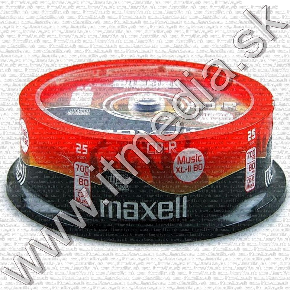 Image of Maxell CD-R 80min -AUDIO- 25cake Music XL-II 80 (IT7002)