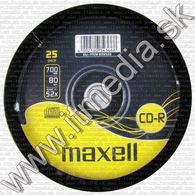 Image of Maxell CD-R 52x 25cake (IT2214)