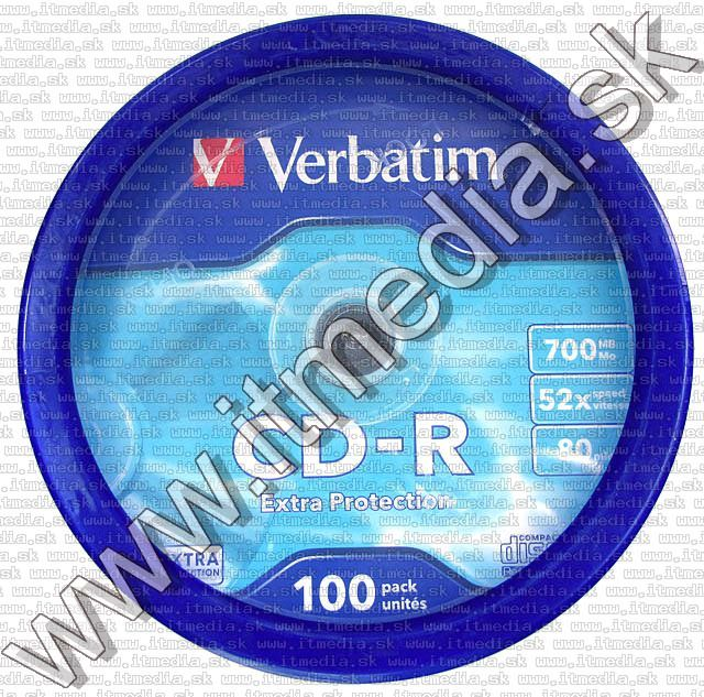 Image of Verbatim CD-R 52x 100cake Extra protection (43411) (IT4387)