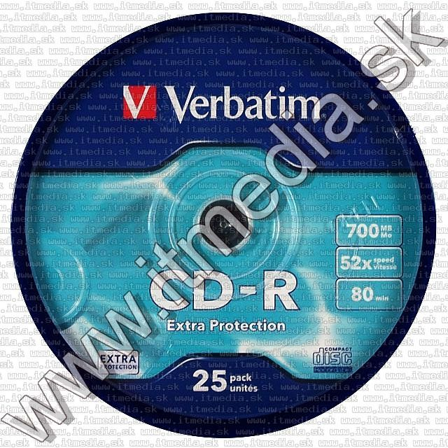 Image of Verbatim CD-R 52x 25cake Extra protection (43432) TW (IT4559)