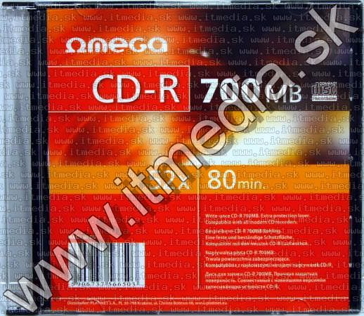 Image of Omega CD-R 52x -----SlimJC----- (IT3787)