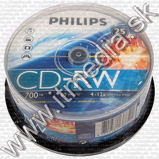 Image of Philips CD-RW 4x-12x 25cake (IT8858)