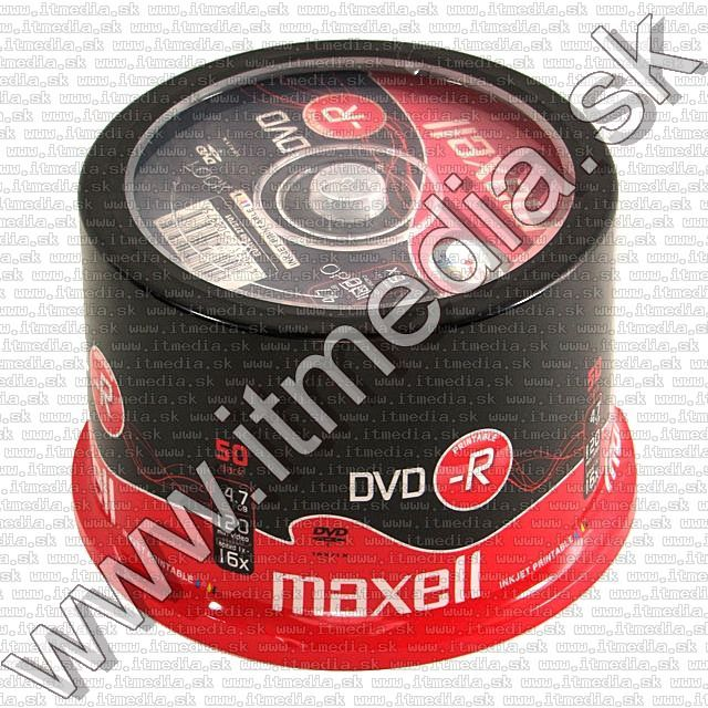 Image of Maxell DVD-R 16x 50cake *fullprint* (IT5471)