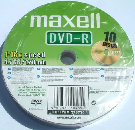 Image of Maxell DVD-R 16x 10cw (IT2213)