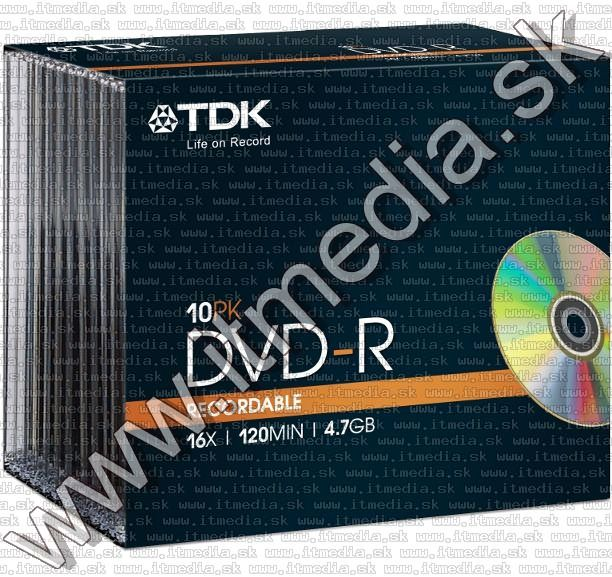 Image of TDK DVD-R 16x Slim (IT12934)