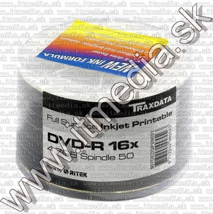 Image of Traxdata DVD-R 16x 50cw RITEK Fullprint NO-ID (IT5907)