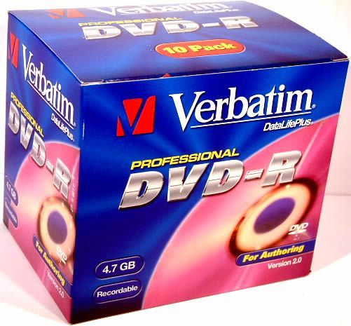 Image of Verbatim DVD-R *AUTHORING* NormalJC INFO! (IT2664)