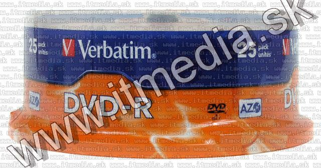 Image of Verbatim DVD-R 16x 25cake -Regular- (43522) (IT4560)