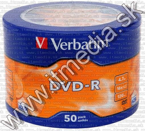 Image of Verbatim DVD-R 16x **50cw** (43788) *TAIWAN* (IT13339)