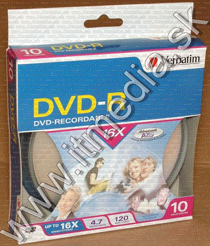 Image of Verbatim DVD-R 16x **10cw**  Blister (95100) Taiwan (IT13443)
