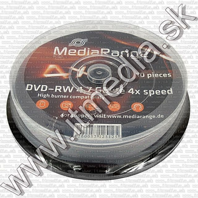Image of MediaRange DVD-RW 4x 10cake (IT9079)