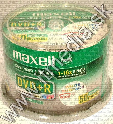 Image of Maxell DVD+R 16x 50cake **fullprint** (IT2652)