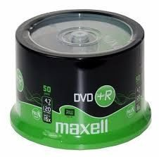 Image of Maxell DVD+R 16x 50cake (IT6242)