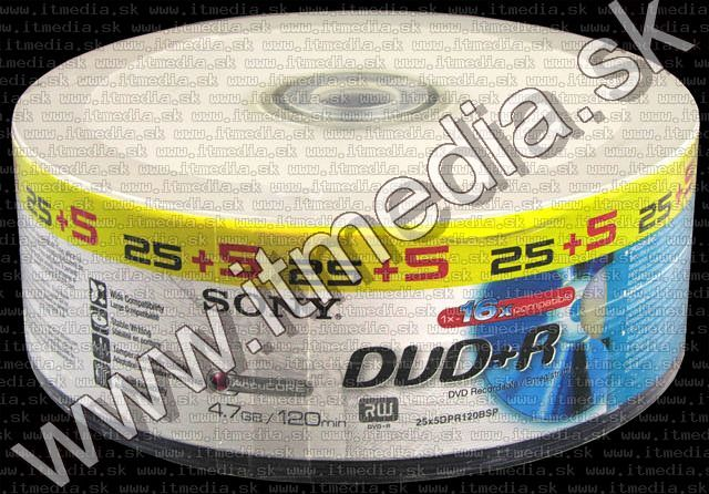 Image of Sony DVD+R 16x 30cw 25+5 (IT3762)