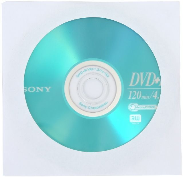 Image of Sony DVD+R 16x paper (IT12936)