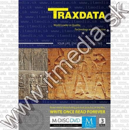 Image of Traxdata M-DISC DVD 4x Dvdbox 3pack *1000year* !info (IT9409)