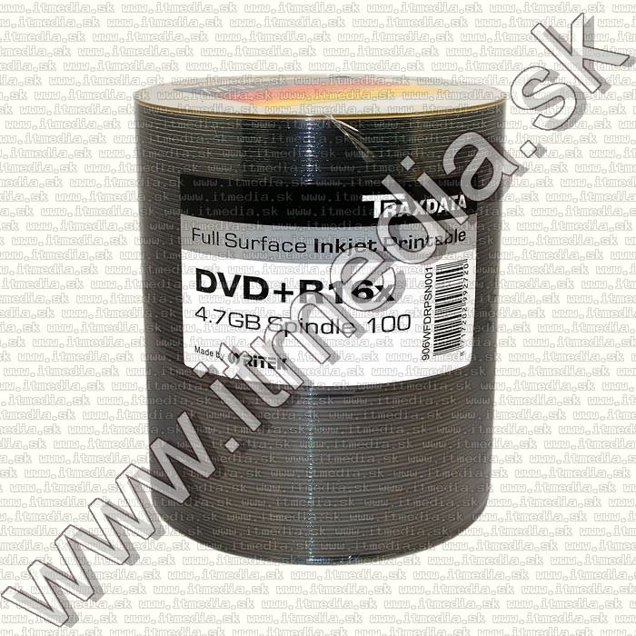 Image of Traxdata DVD+R 16x 100cw RITEK Fullprint NO-ID (IT11931)