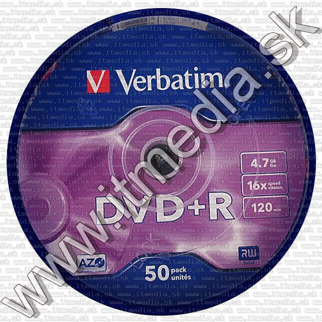 Image of Verbatim DVD+R 16x 50cake (43550) (IT6296)