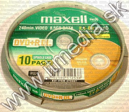 Image of MAXELL DVD+R Double Layer 8x 10cake (IT2669)