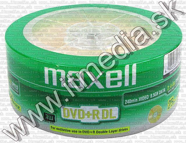 Image of MAXELL DVD+R Double Layer 8x 25cw (IT5384)
