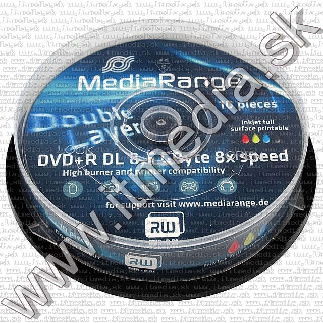 Image of MediaRange DVD+R Double Layer 8x Fullprint 10cake (IT8746)