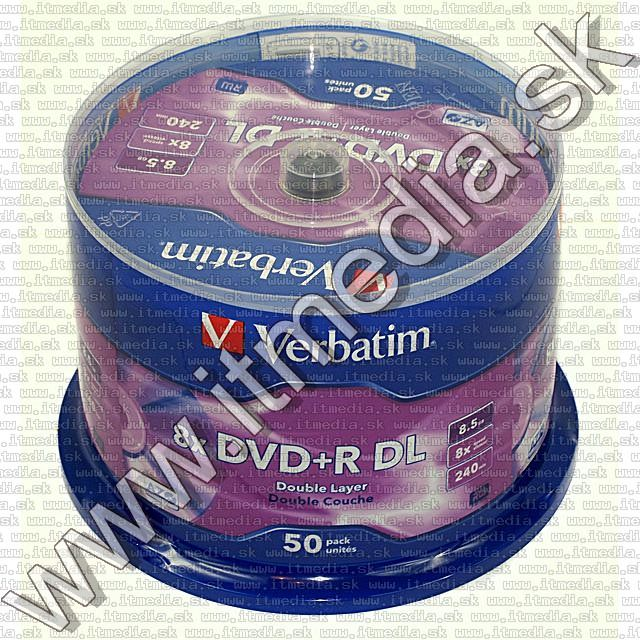 Image of Verbatim DVD+R Double Layer 8x 50cake (43758) (IT7566)