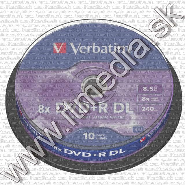 Image of Verbatim DVD+R Double Layer 8x 10cake (43666) UAE (IT9892)