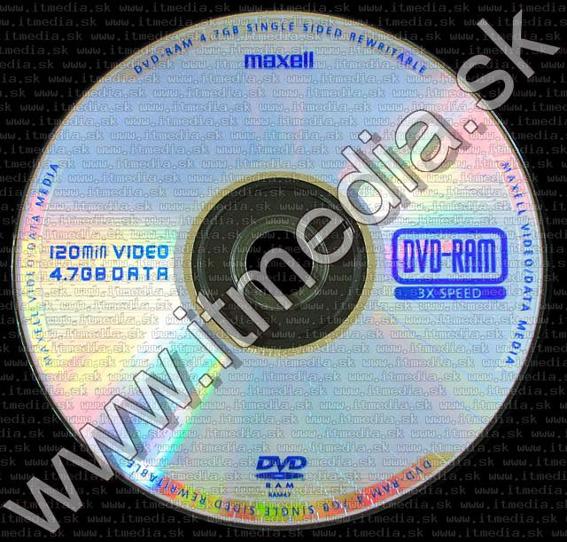 Image of Maxell DVD-RAM 1 side DVDbox (IT5413)