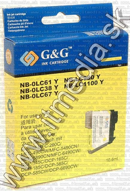 Image of Brother ink (GnG) LC61 LC67 1100 yellow (IT4255)