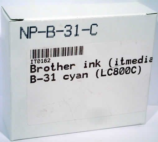 Image of Brother ink (itmedia) B-31 cyan (LC800C) (IT0162)