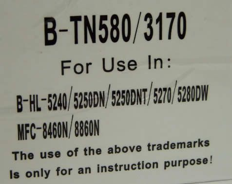 Image of Brother toner (itmedia) TN580 *rebuild* (IT3471)