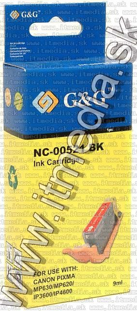 Image of Canon ink (GnG) CLI-521 Black *No Chip* (IT4237)