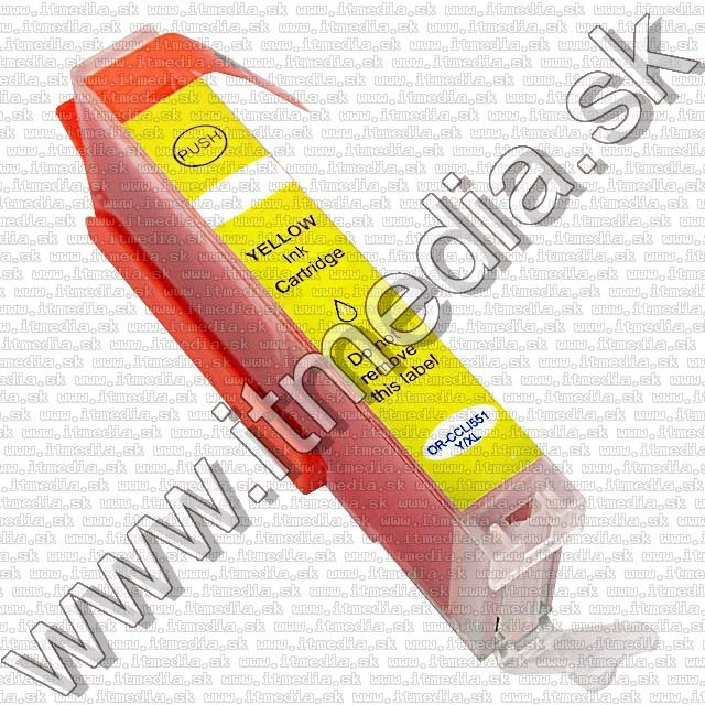 Image of Canon ink (itmedia) CLI-551XL Yellow **WITH CHIP** ECO (IT9295)