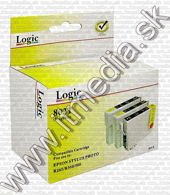 Image of Epson ink (LOGIC) T0803 v3.11 *Magenta**3pack* (IT6897)
