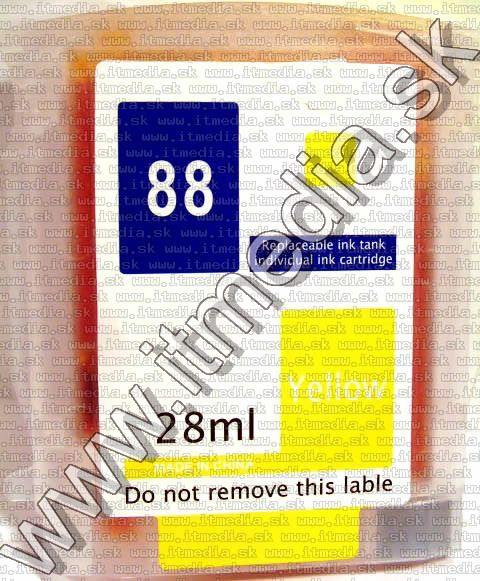 Image of HP ink (itmedia) C9388AN (HP 88 Yellow) (IT2847)