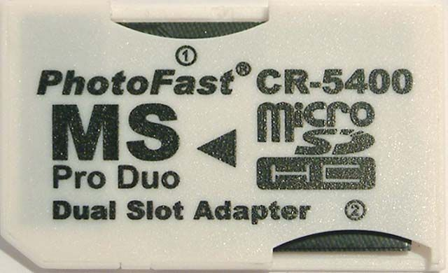 Image of PhotoFast CR-5400 Dual microSD to MS Pro Duo adapter *bulk* (IT4300)