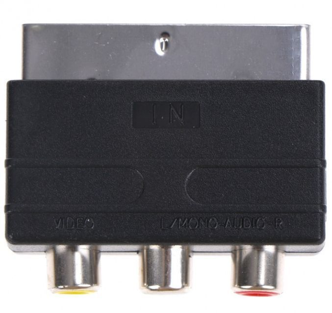 Image of SCART adapter, 3xRCA INPUT info! (IT13723)