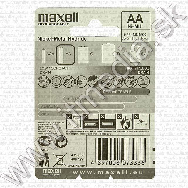Image of Maxell Ni-Mh akku HR06 4x2300 mAh AA (IT7725)