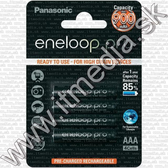 Image of Panasonic Eneloop PRO akku HR03 4x900 mAh AAA *BLISTER* *Ready2Use* (IT10719)