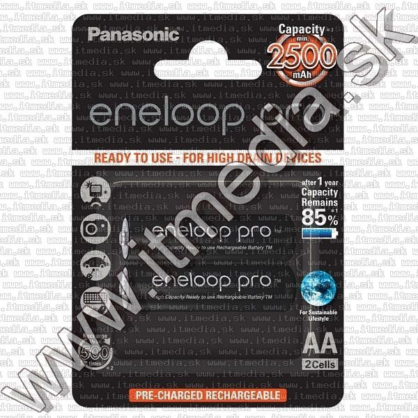 Image of Panasonic Eneloop PRO akku HR06 2x2450 mAh AA *BLISTER* *Ready2Use* (IT12846)