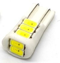 Image of LED Car Dashboard Light T10 Ceramic White 12v 8x5730SMD (IT12409)