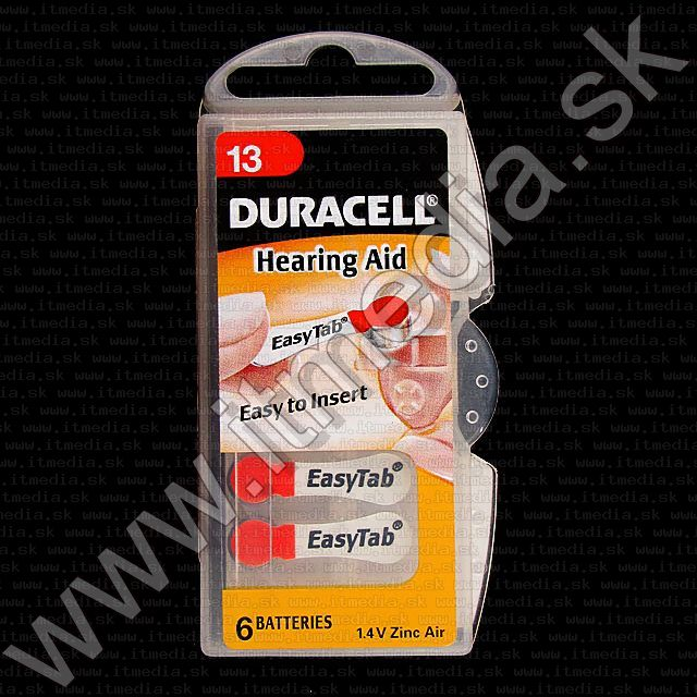 Image of Duracell battery PACK (6-set) No. 13 (DA13N6) (IT1440)